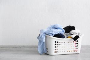 雨の日は洗濯物が溜まる