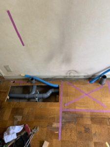 床下の配管移設