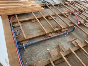 床下の排水管リフォーム