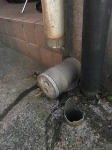 破損した配水管