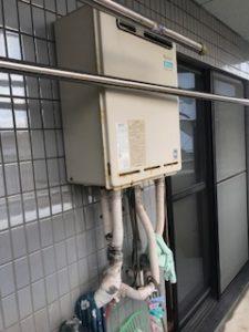 給湯器配管水漏れ