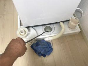 洗濯排水の高圧洗浄