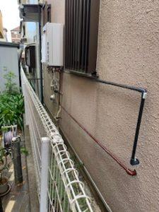 屋外の給水給湯配管
