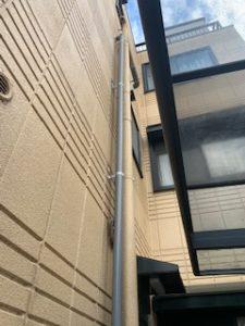 高所の排水管の補修