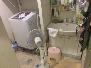 洗濯機と洗面所