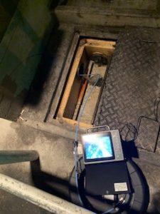 グリーストラップの管内カメラ調査